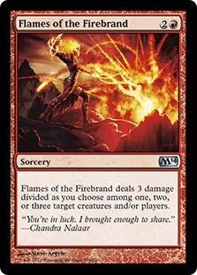 Flames of the Firebrand - Sorcery - Magic 2014 Core Set #139